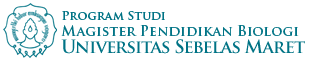 Website Resmi Program Studi Magister Pendidikan Biologi UNS