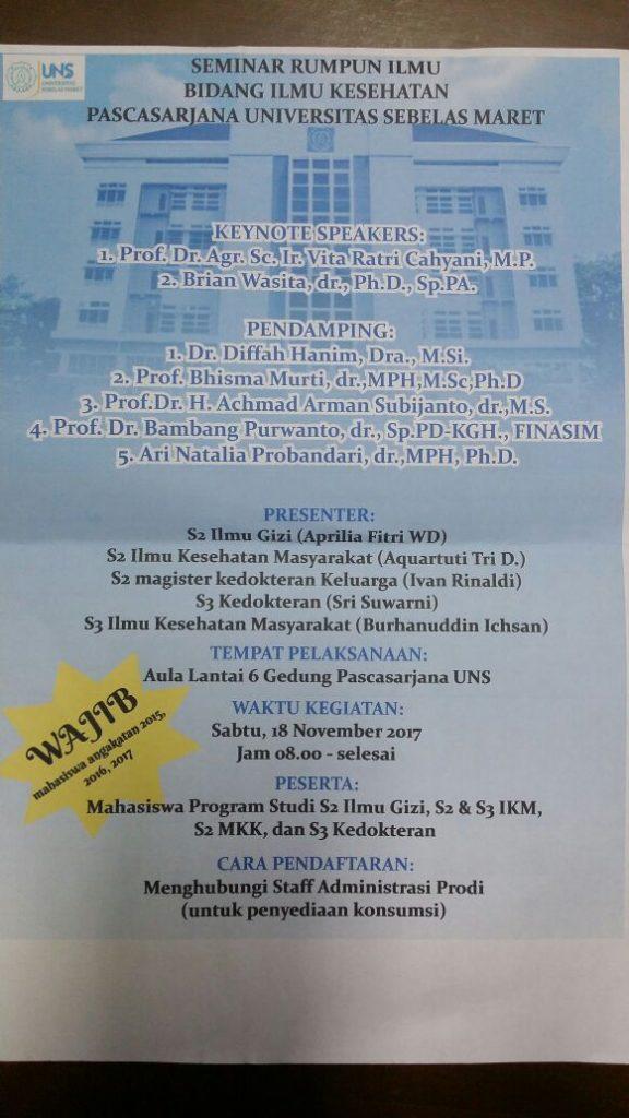 Seminar rumpun ilmu bidang kesehatan
