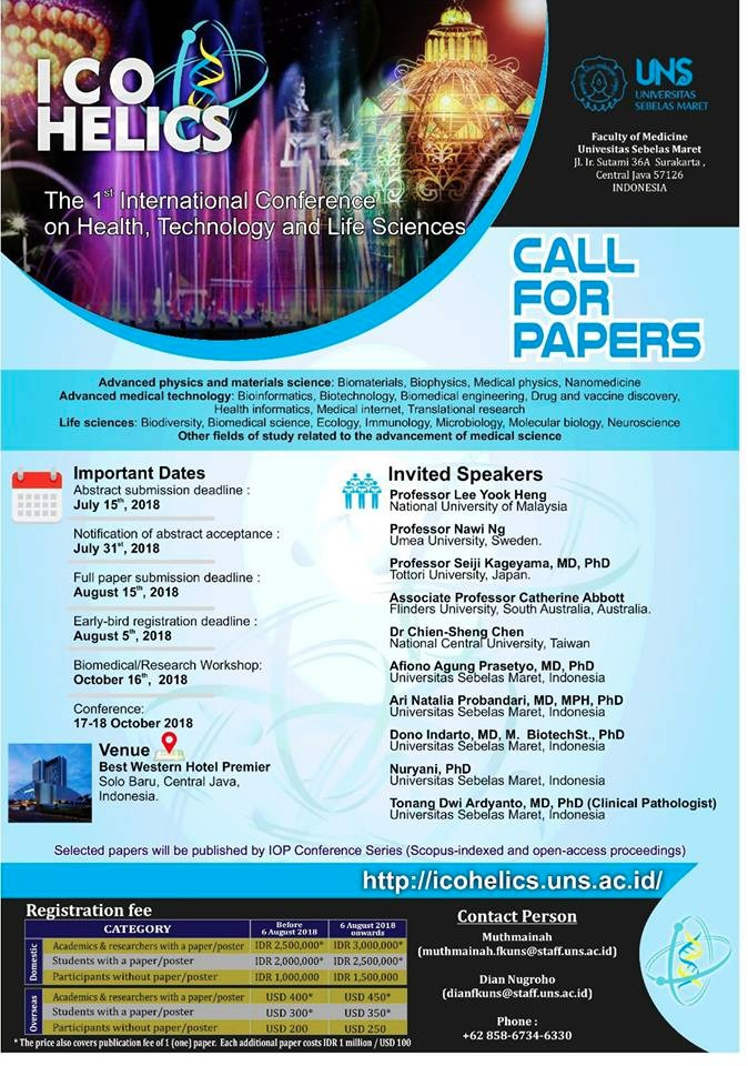 International conference on health, technology and life sciences