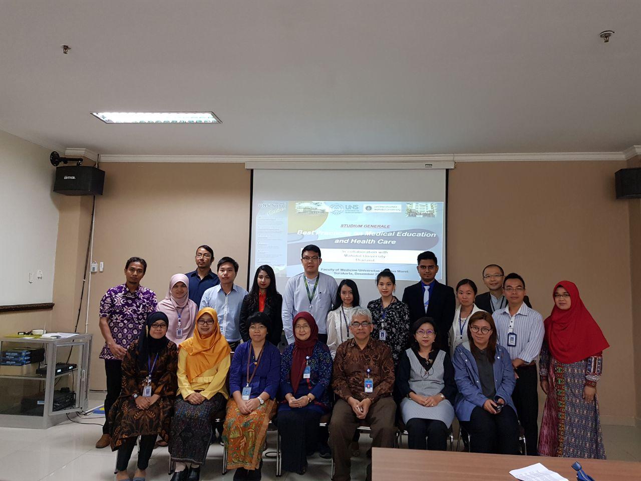 Kunjungan mahasiswa Pascasarjana dari Faculty of Graduate Studies Mahidol University Thailand