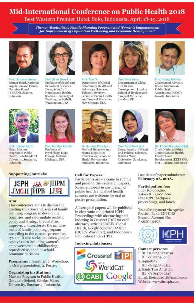 International conference on public health 2018