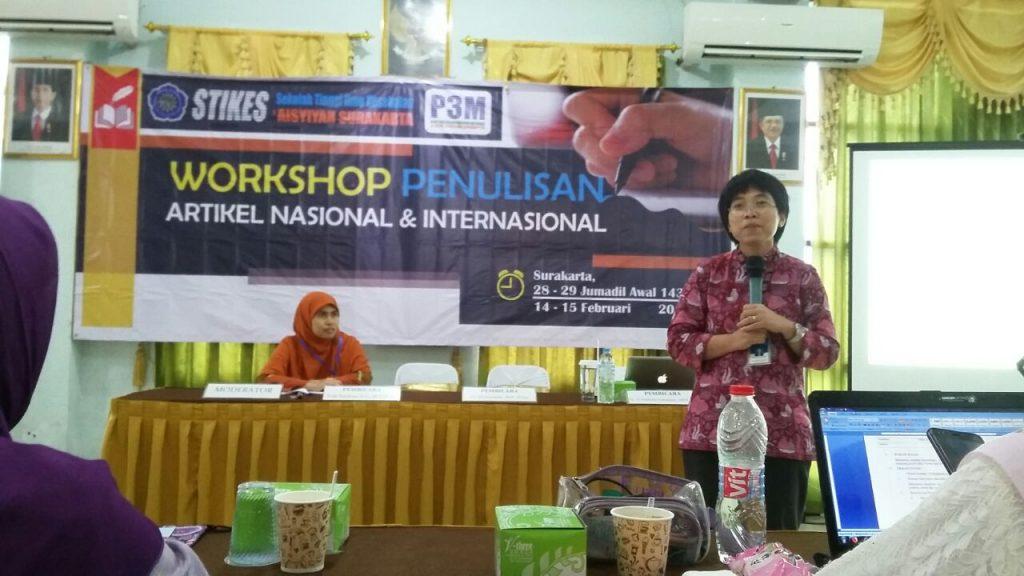 Kepala Program Studi S3 IKM UNS menjadi pemateri workshop penulisan artikel nasional dan internasional