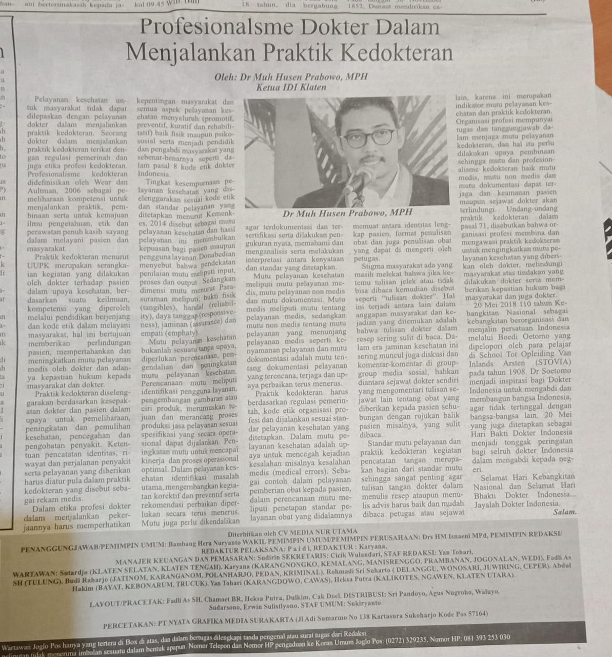 Opini mahasiswa IKM a.n Muh Husen Prabowo