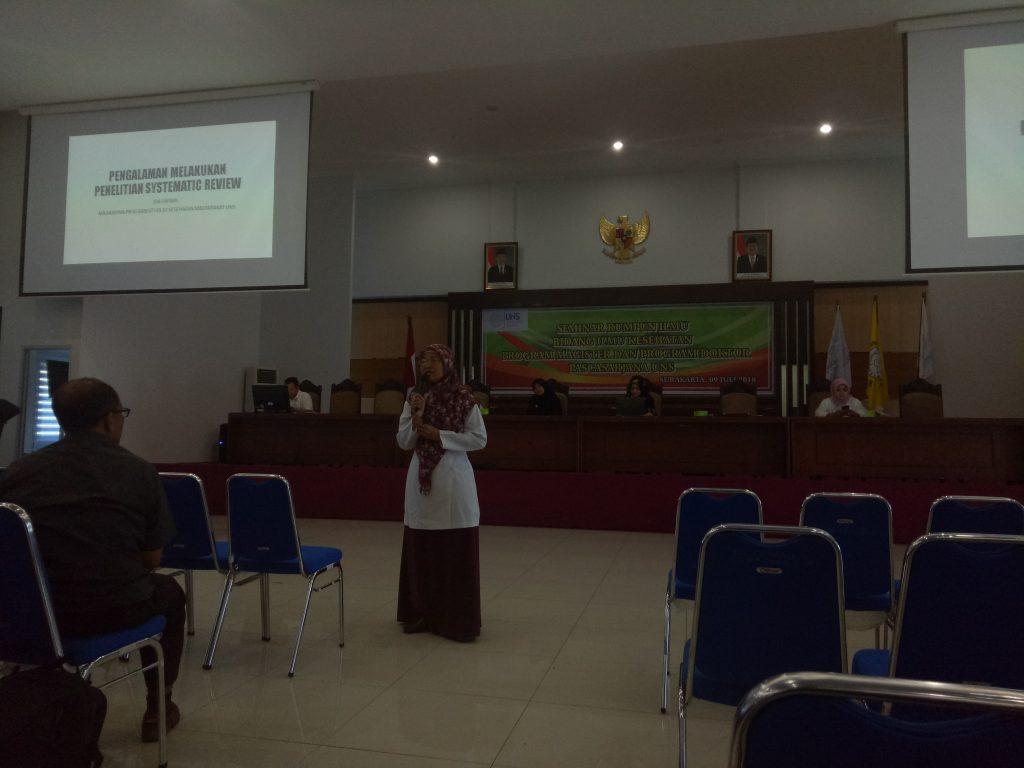 Seminar rumpun ilmu kesehatan Pascasarjana UNS