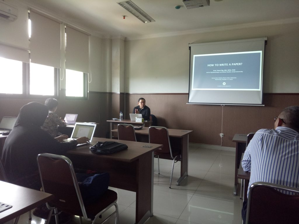 Kuliah Tamu How To Write A Paper oleh Prof. Nawi NG.,MD.,MPH.,PhD