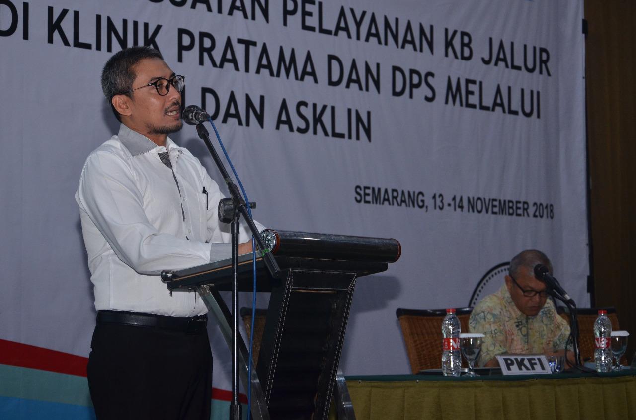 Mahasiswa a.n M. Husen Prabowo menjadi narasumber temu kerja penguatan pelayanan KB