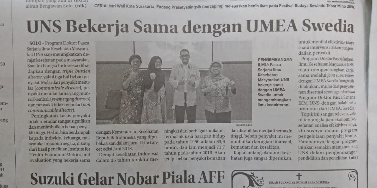 Hasil Kerjasama S3 IKM UNS dengan UMEA University Swedia