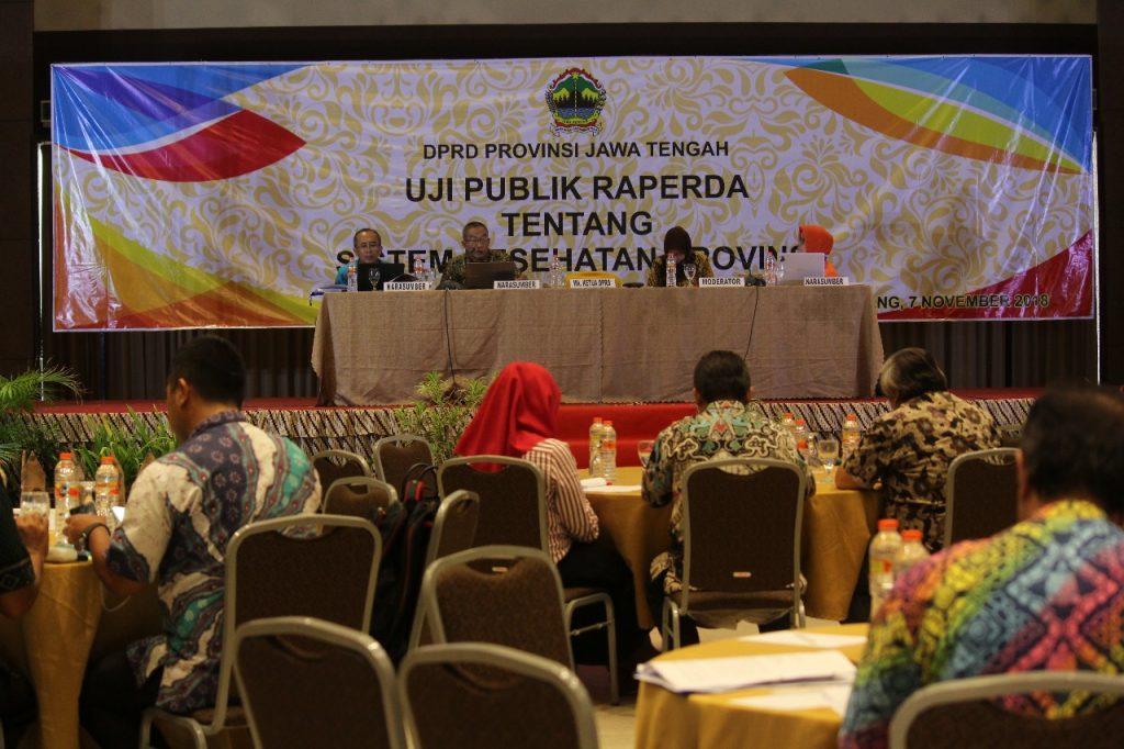 Dosen a.n. Prof. Dr. Endang Sutisna Sulaeman, dr, M.Kes, FISPH, FISCM menjadi narasumber pada Uji Publik Raperda