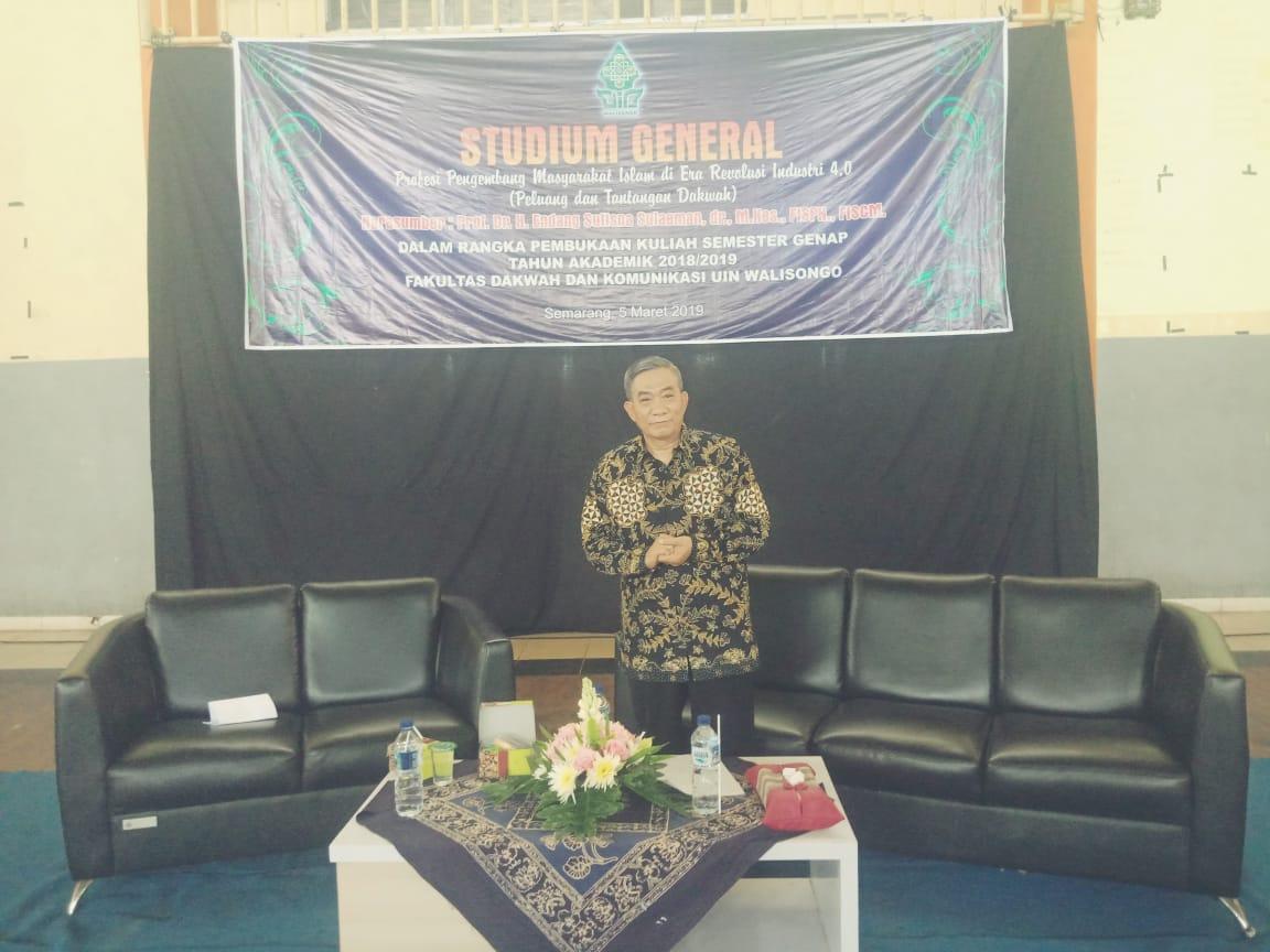 Dosen S3 Kesehatan Masyarakat UNS menjadi narasumber pada Studium General UIN Walisongo Semarang