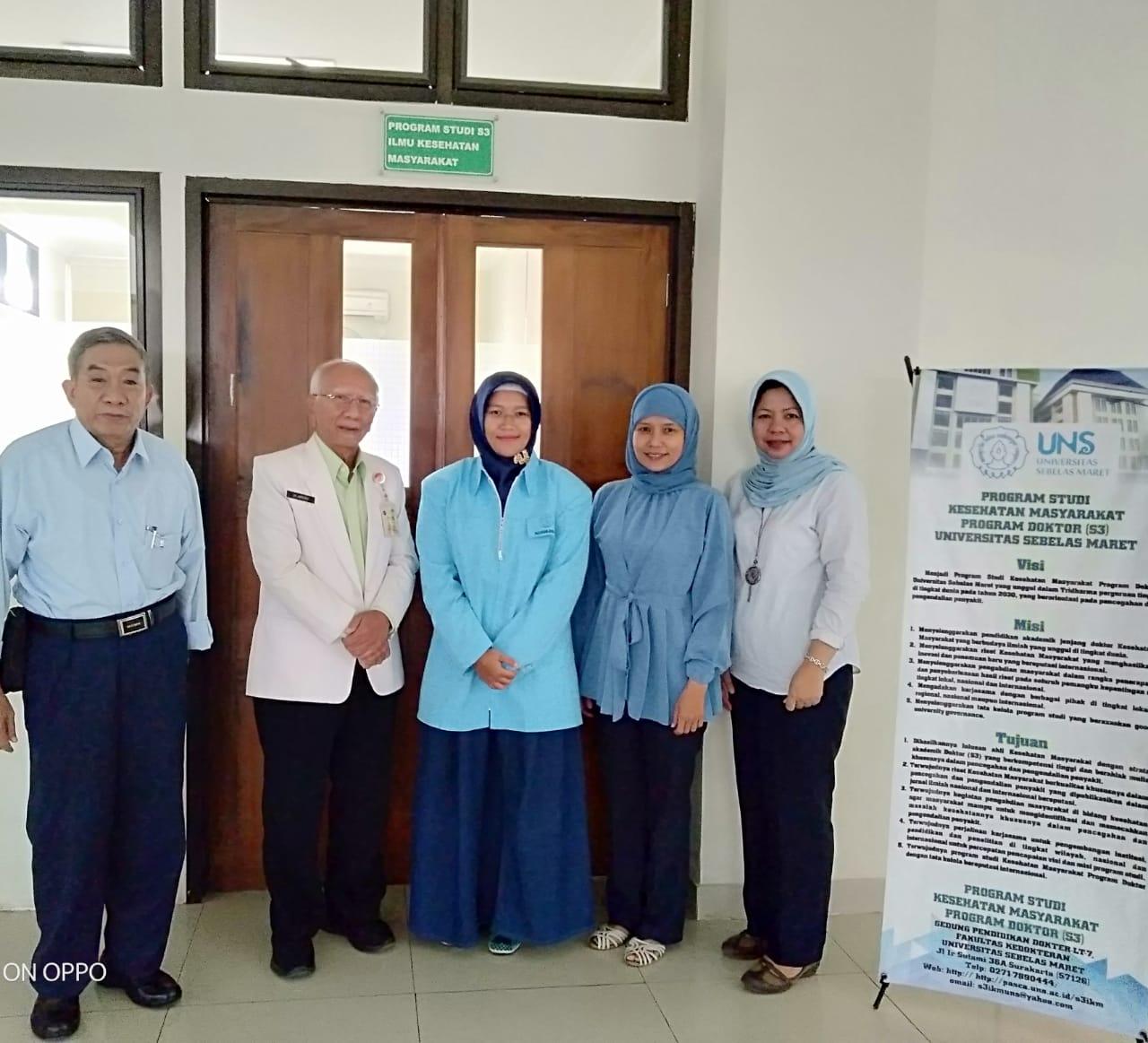 Ujian Kualifikasi Proposal Disertasi Mahasiswa S3 IKM UNS a.n Yessy Nur Endah Sary