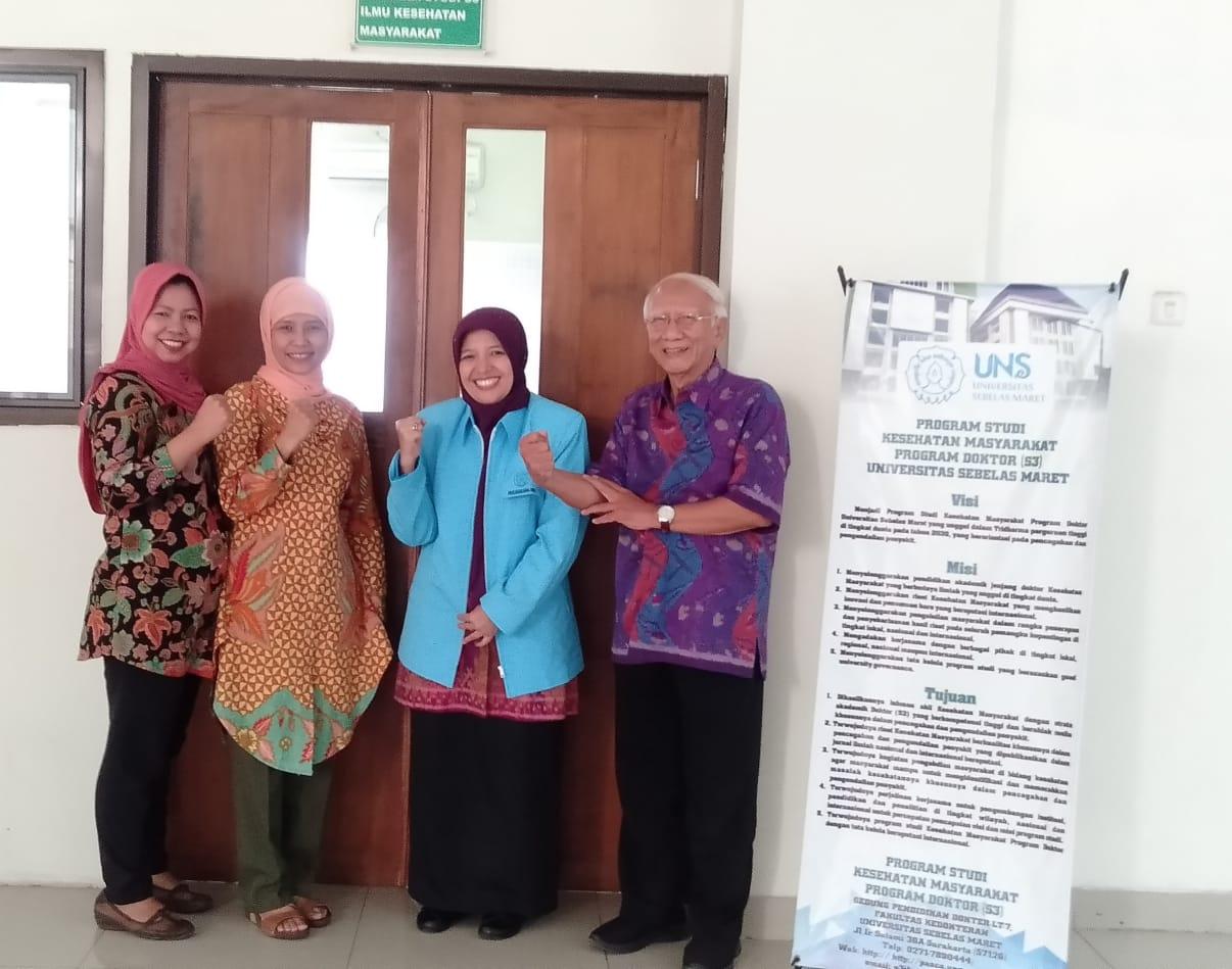 Ujian Kualifikasi Proposal Disertasi Mahasiswa S3 IKM UNS a.n. Dewi Rokhanawati