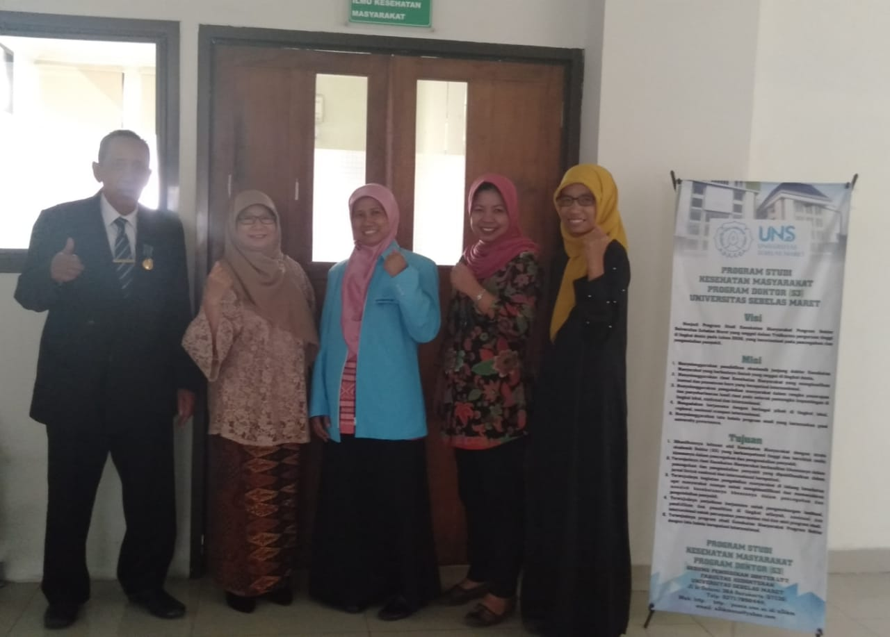 Ujian Kualifikasi Proposal Disertasi Mahasiswa S3 IKM UNS a.n. Mulyaningsih