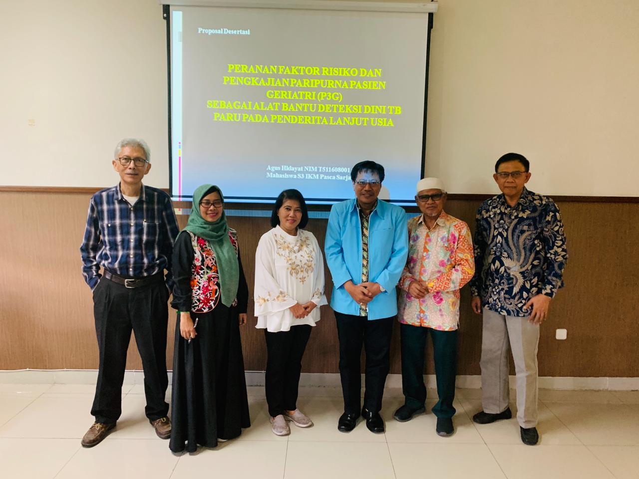 Ujian Proposal Disertasi Mahasiswa S3 IKM UNS a.n. Agus Hidayat