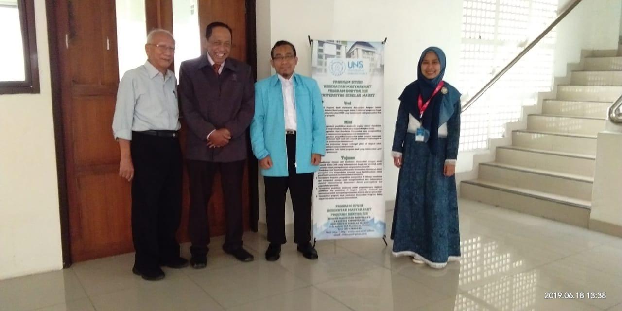 UjianSeminar Kemajuan Riset Mahasiswa S3 IKM UNS atas nama Burhannudin Ichsan