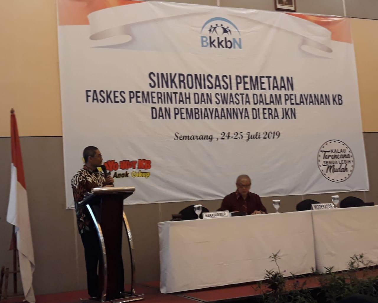 Mahasiswa S3 IKM UNS atas nama M.Husen Prabowo menjadi salah satu narasumber Sinkronisasi Faskes Pemerintah dan Swasta dalam Pelayanan KB dan Pembiayaannya di Era JKN