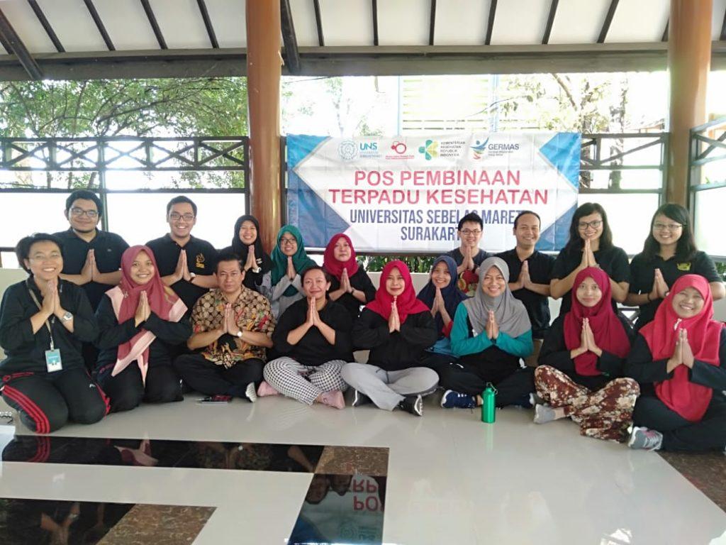Peluncuran Pos Pembinaan Terpadu Kesehatan, Universitas Sebelas Maret Surakarta yang diinisiasi oleh dosen S3 IKM UNS yang tergabung dalam Riset Grup Disease Control.