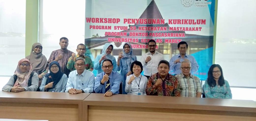 Program Studi S3 Kesehatan Masyarakat UNS menyelenggarakan Workshop Penyusunan Kurikulum