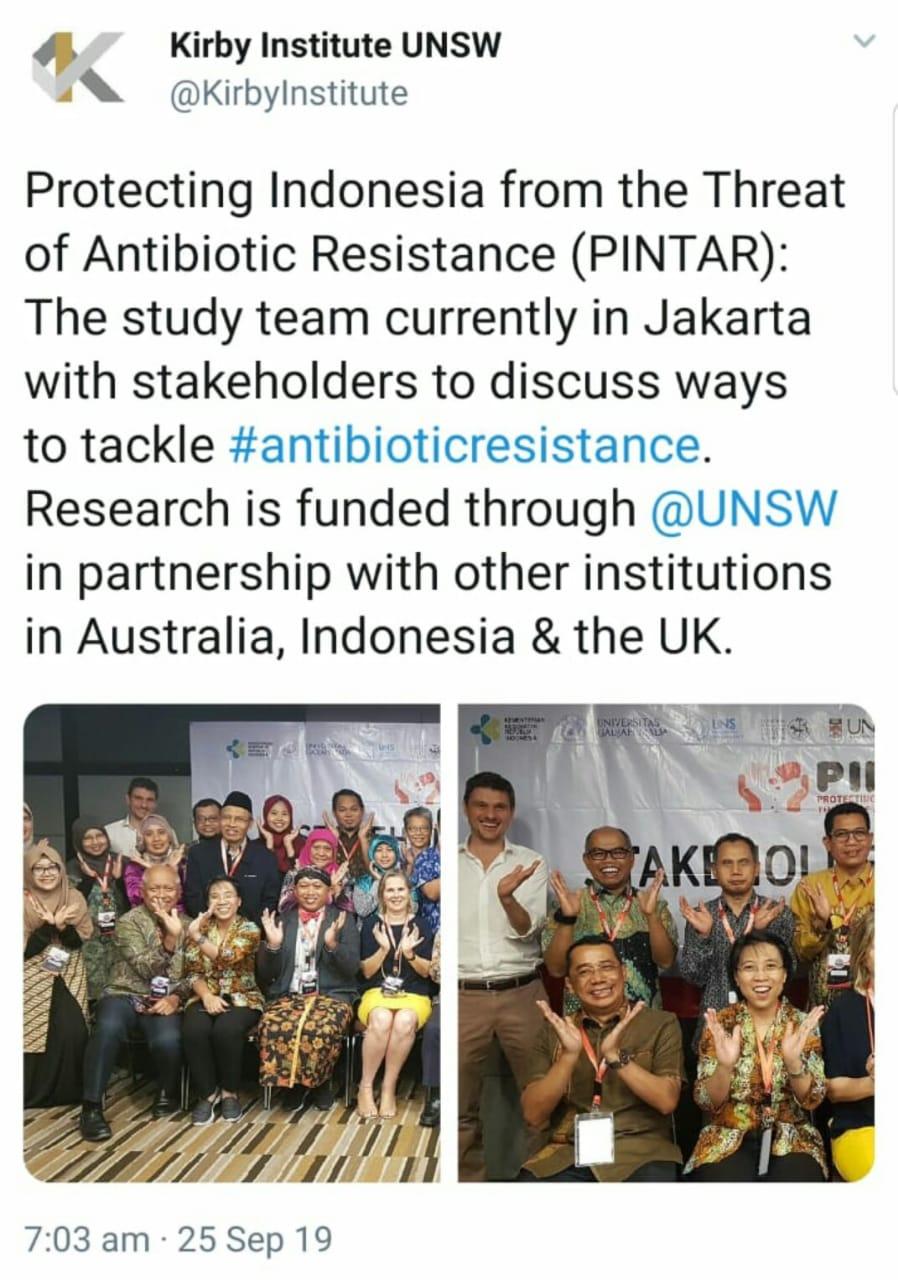 Kepala Program Studi S3 IKM UNS Ari Natalia Probandari, dr, MPH. PhD dalam acara Stakeholder meeting PINTAR Project di Jakarta