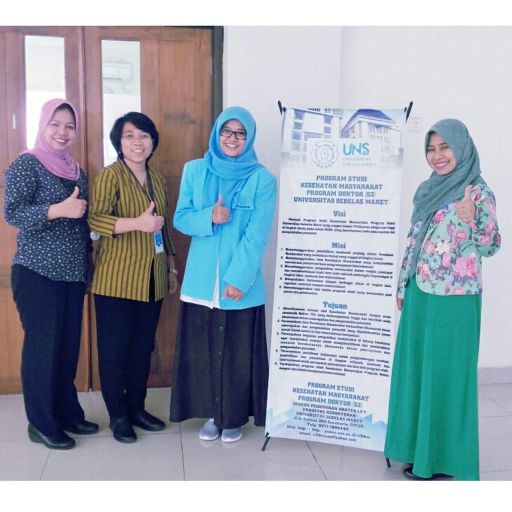 Ujian Kualifikasi Mahasiswa S3 Kesehatan Masyarakat UNS a/n Violita Siska Mutiara NIM T511808006