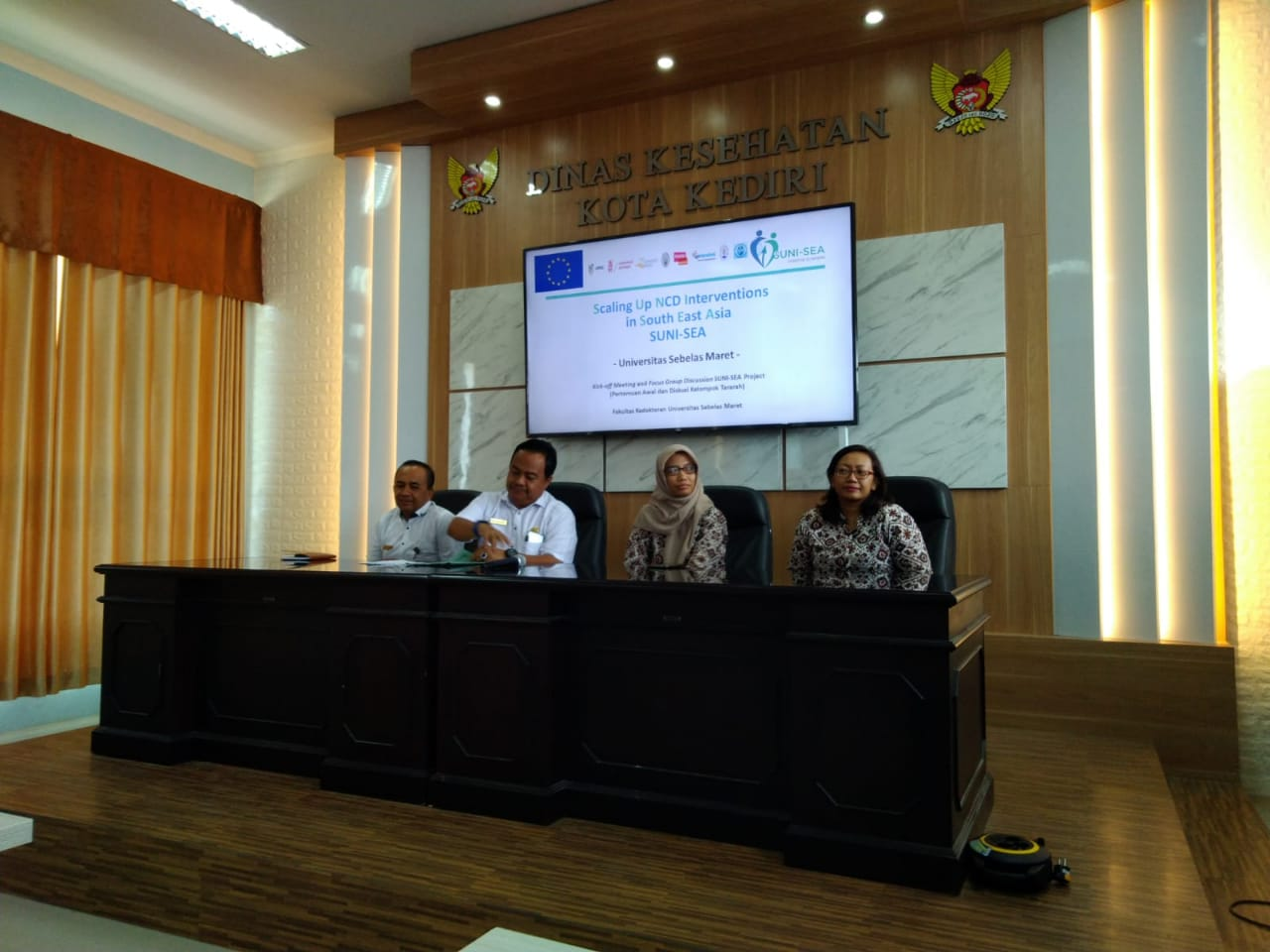 Pertemuan Awal Projek Scaling Up NCDs Intervention (SUNI SEA) di Kota Kediri
