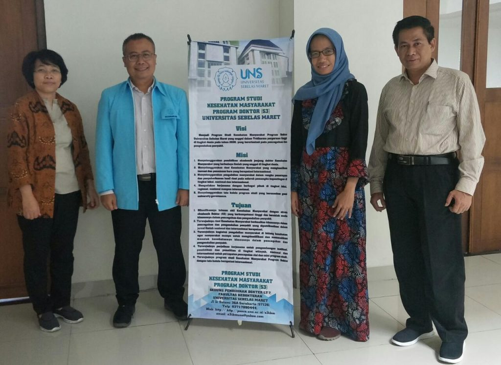 Ujian Proposal Disertasi Mahasiswa S3 Kesehatan Masyarakat UNS a.n. Yopi Harwinanda Ardesa NIM T511608010