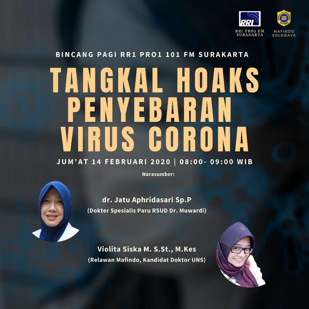 Mahasiswa S3 Kesehatan Masyarakat UNS a/n Violita Siska Mutiara menjadi narasumber dalam acara Bincang Pagi RRI Pro1