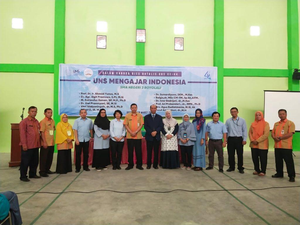 Dosen S3 Kesehatan Masyarakat UNS berpartisipasi dalam program UNS Mengajar Indonesia