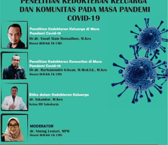 Alumni menjadi Narasumber Webinar FK Universitas Muhammadiyah Surakarta