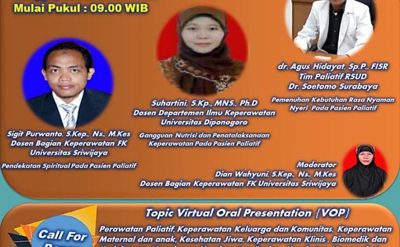 Mahasiswa S3 Kesehatan Masyarakat UNS dr. Agus Hidayat, Sp.P. FISR menjadi narasumber perawatan paliatif pada era normal baru