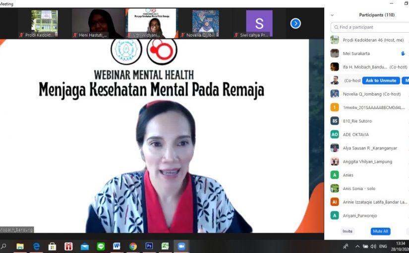 Press Rilis Kegiatan Webinar Kesehatan Mental Pada Remaja
